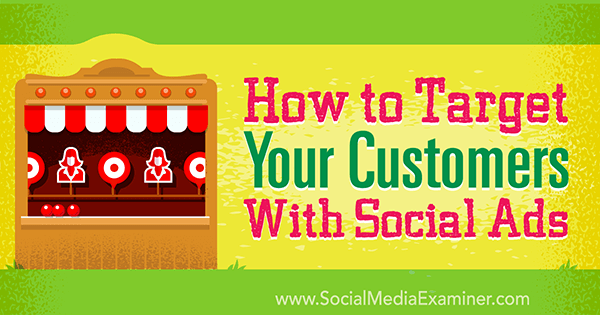 using social ads with a target custom audience