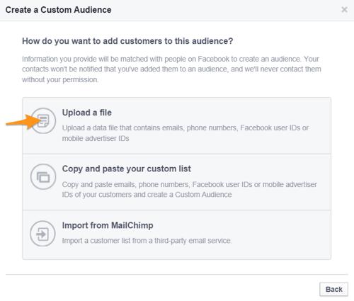 Facebook erstellen benutzerdefinierte Zielgruppe