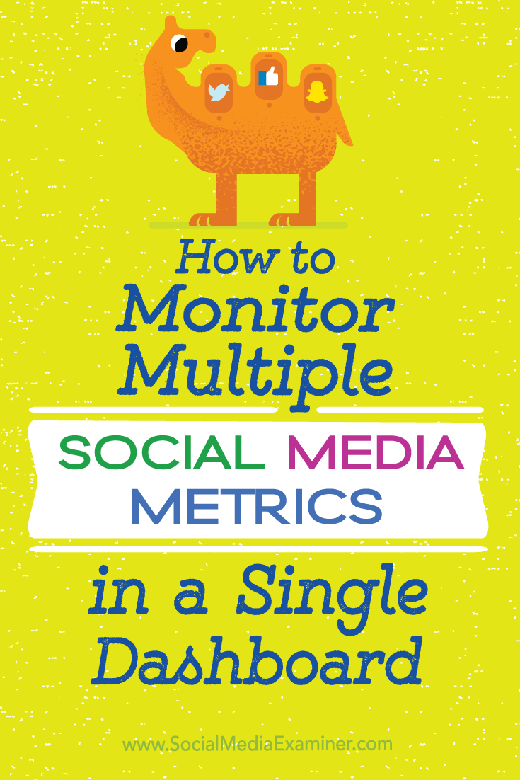 Tips on how you can track key social media metrics for your business in a single dashboard.