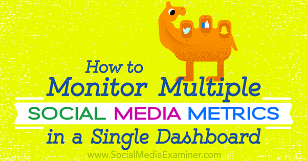 social media metric dashboard tools and set up