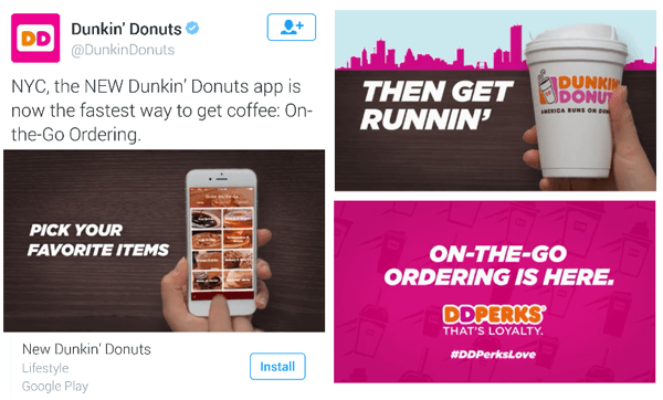 dunkin donuts twitter video ad