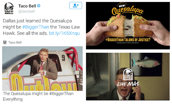 taco bell twitter video ad