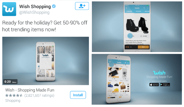 wish shopping twitter video ad