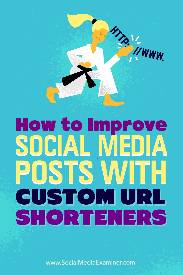 Tips on how to improve your social media presence with custom URL shorteners.