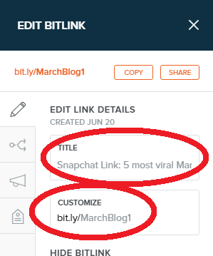 bitly create link