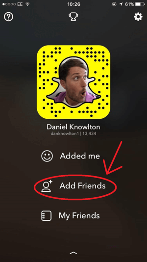 snapchat add friends