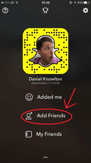 snapchat add friends