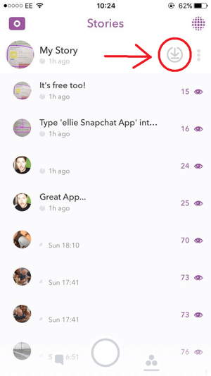 snapchat download story