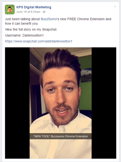 share snapchat story on multiple platforms