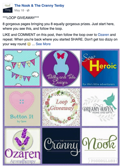 FACEBOOK GIVEAWAY POST EXAMPLES