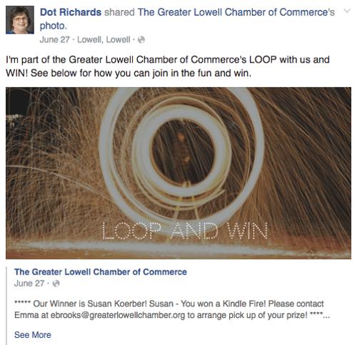 Werben Sie für Facebook Loop Werbegeschenk auf Profil
