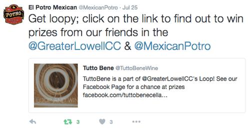 Werben Sie für Facebook Loop Giveaway auf Twitter