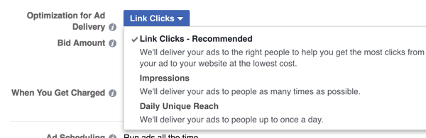 facebook optimization for ad delivery
