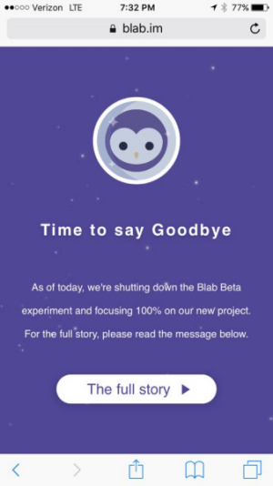 blab closing