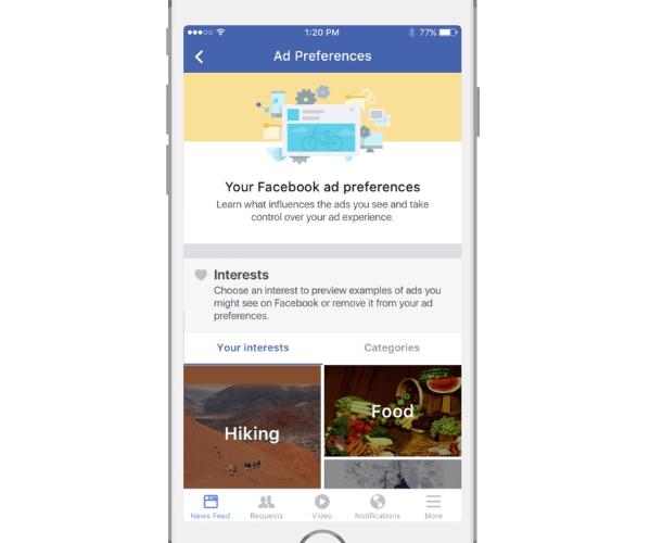 Facebook-Anzeigeneinstellungen