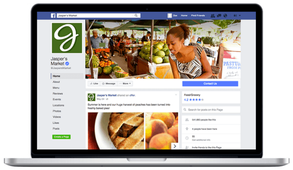 facebook page layout update