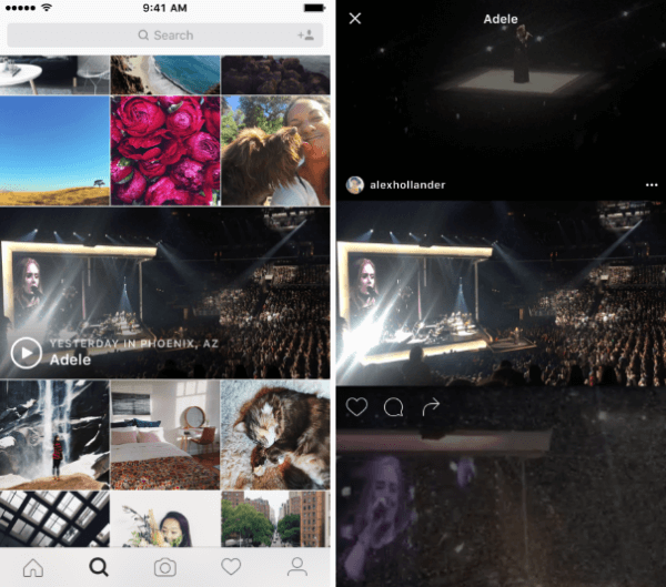 instagram explore events channel