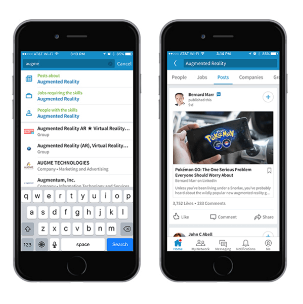 linked content search features