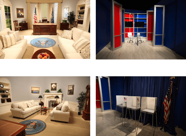 youtube spaces election themed sets