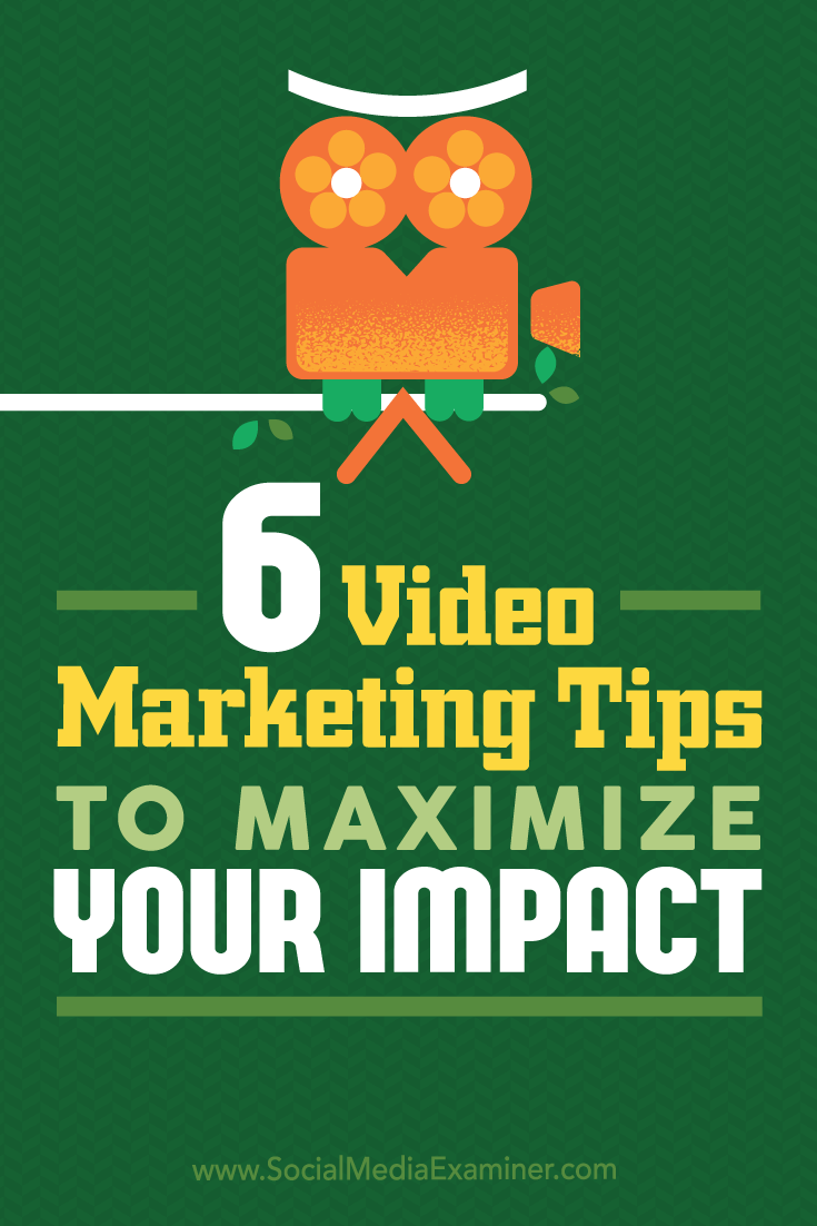 Tips on six ways marketers can improve the performance of your video content.