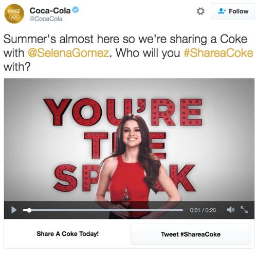 coca-cola twitter conversational ad