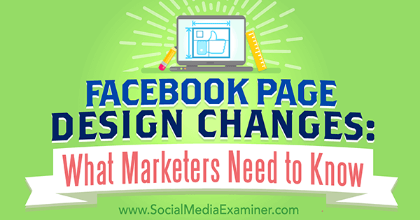 prepare for facebook page layout changes