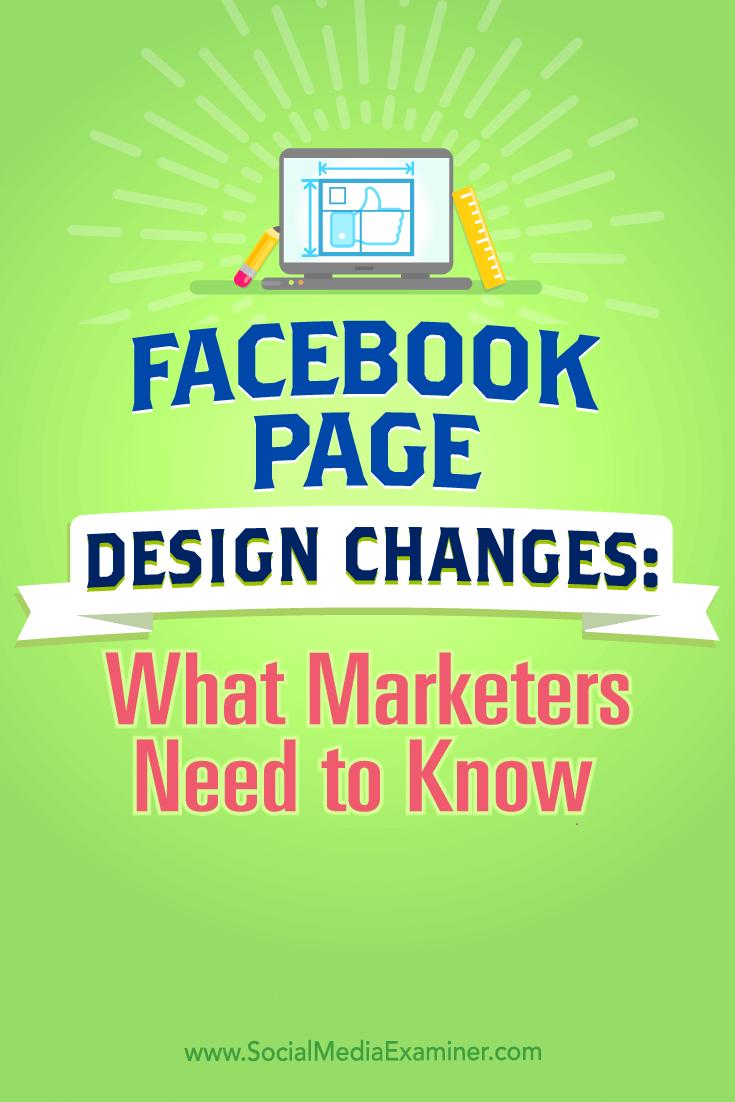 Tipps zur Änderung des Designs der Facebook-Seite und was Vermarkter wissen müssen.