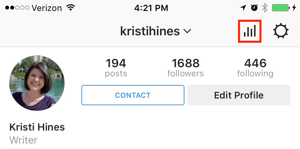instagram business profile insights