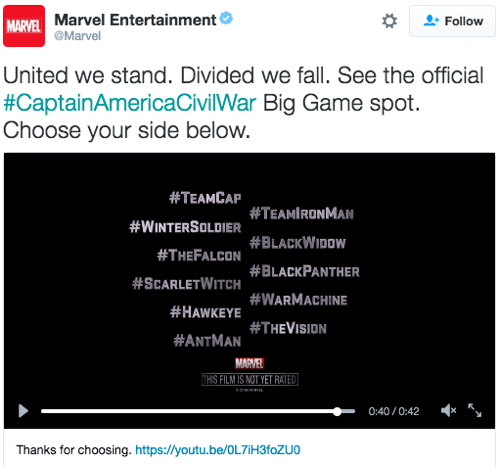 marvel twitter conversational ad