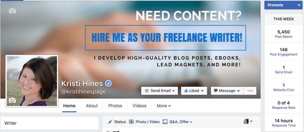 altes Facebook-Seite Admin Design