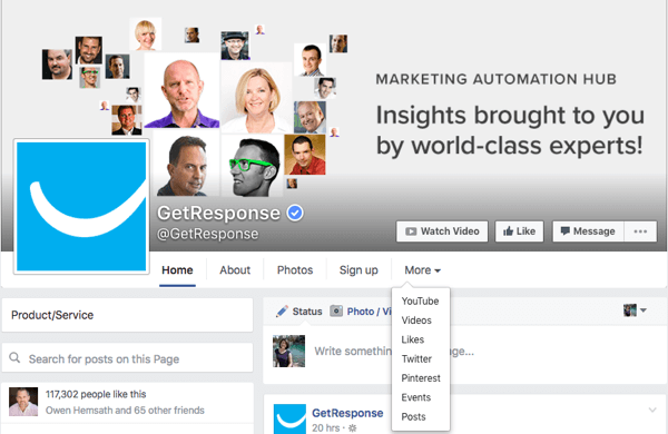 altes Facebook-Seitendesign