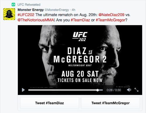 ufc twitter conversational ad