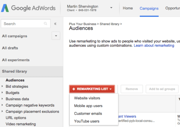 google adwords account