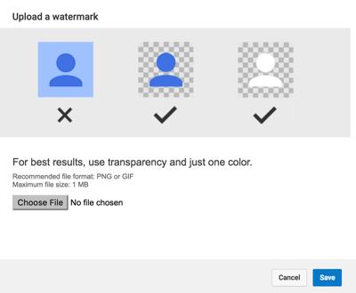 youtube add watermark