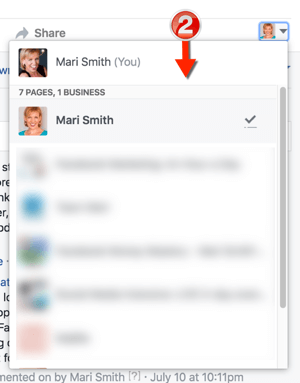 change facebook page attribution