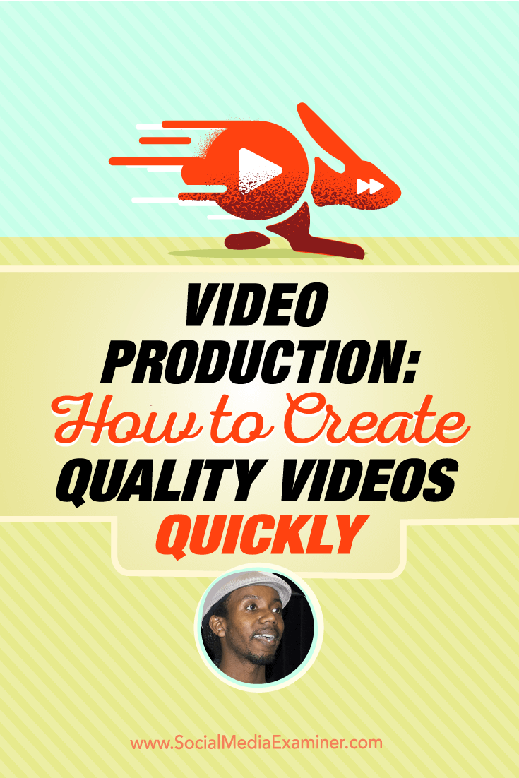 Roberto Blake talks with Michael Stelzner about video production and how to quickly create quality videos.