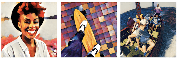 Add artistic filters to your photos with Prisma.