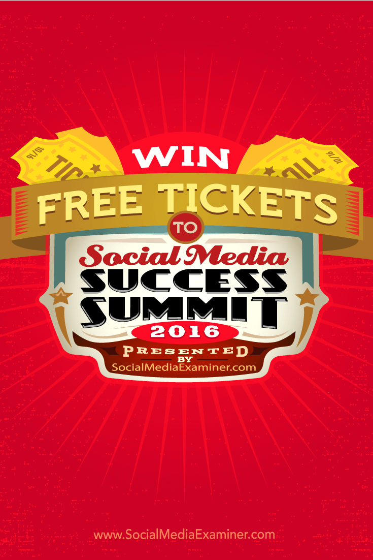 Erfahren Sie, wie Sie ein kostenloses Ticket für den Social Media Success Summit 2016 gewinnen können.