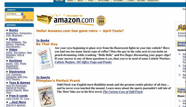 amazon april fools day prank