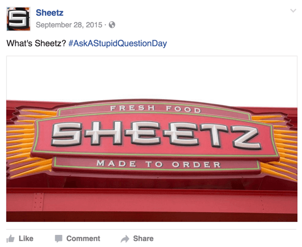 ask a stupid question day social post example