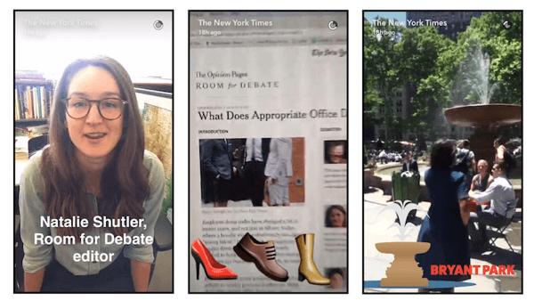 snapchat new york times