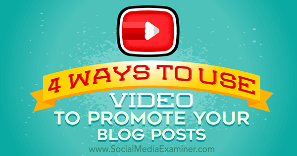 promote blog with video