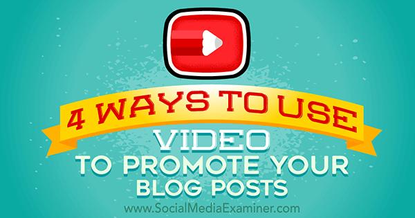Blog mit Video bewerben