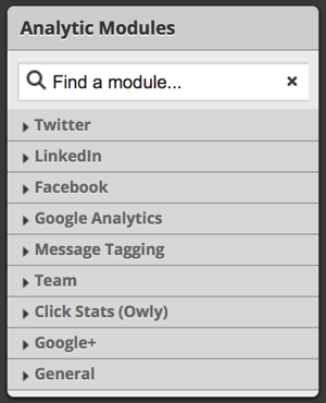 hootsuite analytic modules