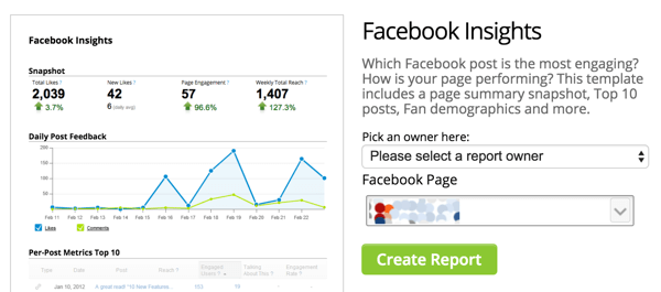 hootsuite facebook insights template