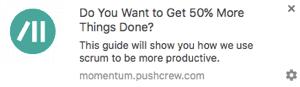 Beispiel für eine Push-Benachrichtigung