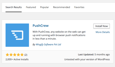 pushcrew wordpress plugin