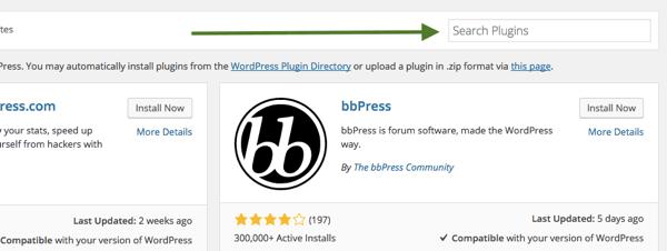 WordPress-Plugin-Suche