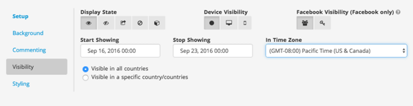 shortstack pinterest visibility widget