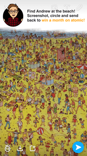 snapchat where's waldo game